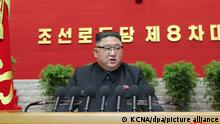 Nordkorea Kim Jong Un Parteikongress