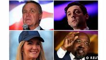 Georgia Senats-Stichwahlen | Kombobild Kandidaten