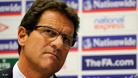 England soccer team manager Fabio Capello