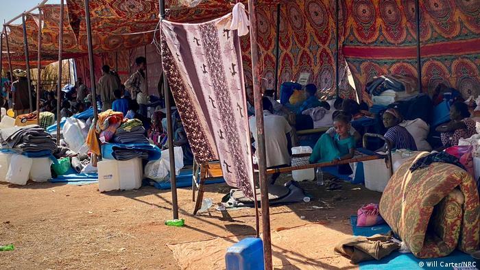 Wakimbizi wa Ethiopia katika kambi ya Um Raquba nchini Sudan