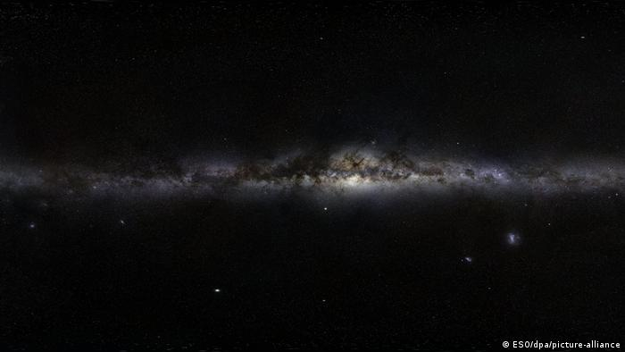 A panorama of the night sky