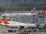Auf dem Flughafen Gatwick stoppten Kuwaits Anwälte die Maschine der Iraqi Airways