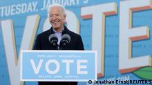 USA Georgia | Joe Biden während Kampaqne zur Unterstützung des Senatskandidat Jon Ossoff
