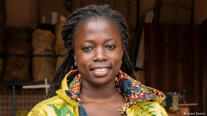 Portrait shot of the fashion designer Juliet Namujju in Mpigi, Uganda
