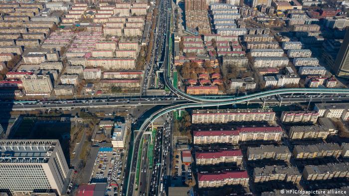 China Shijiazhuang | Stau am ersten Tag im neuen Jahr