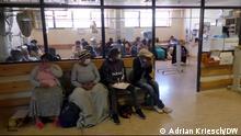 Die Covid-Station am Krankenhaus in Khayelitsha – jeden Tag stirbt hier ein Mensch mit Corona Fotograf: Adrian Kriesch, DW-Mitarbeiter, Dezember 2020.