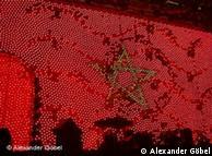 Lichtanimation der marokkanischen Flagge. Foto: Alexander Göbel