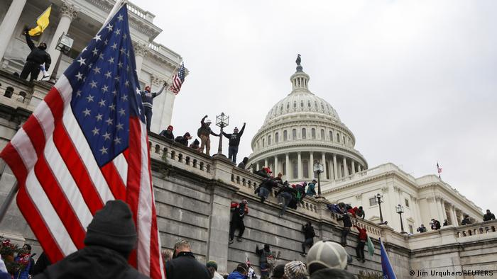 Сторонники Трампа у Капитолия в Вашингтоне