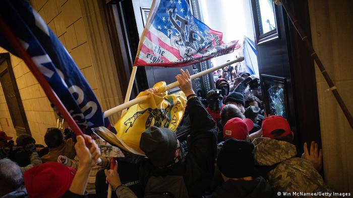 A pro-Trump mob breaks into the U.S. Capitol on January 06