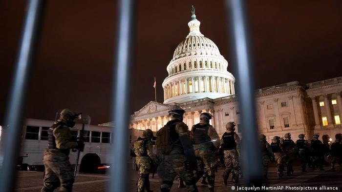 К Капитолию в Вашингтон прибыла Национальная гвардия