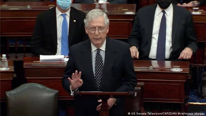 Mitch McConnell speaks in the US Senate