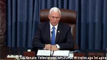 US-Senat nach der Wiederaufnahme der Sitzung | Mike Pence