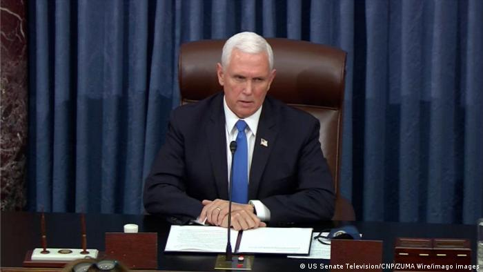 US Vice President Mike Pence sat in the US Senate