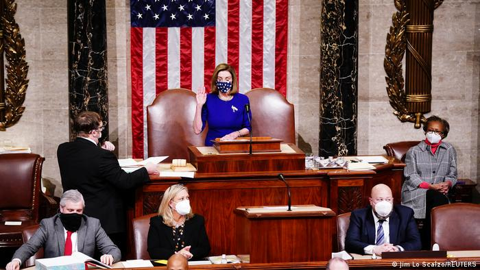 Nancy Pelosi - Speaker of the House resumes a joint session to certify the results of the US Presidential election