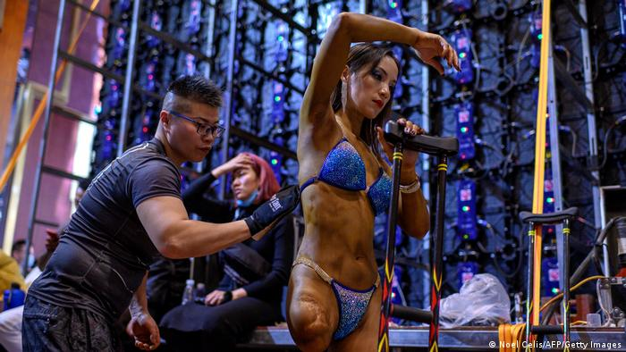 China Bodybuilderin Gui Yuna