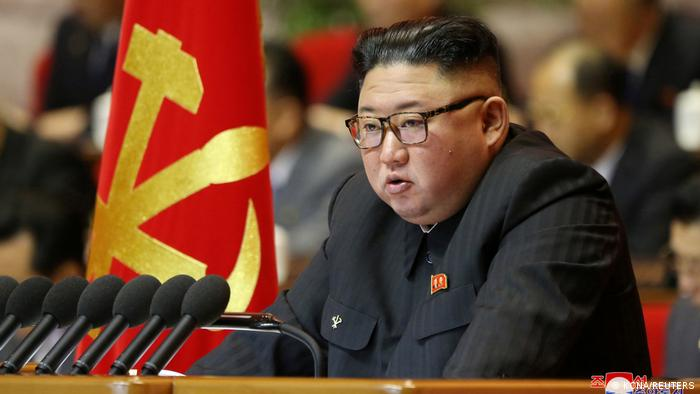 North Korean leader Kim Jong Un attends the first day of the 8th Congress of the Workers' Party in Pyongyang, North Korea,