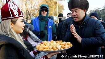 Садыр Жапаров во время избирательной кампании 2020 года
