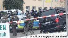 Großeinsatz der Polizei wegen verdächtiger Person in Ulm