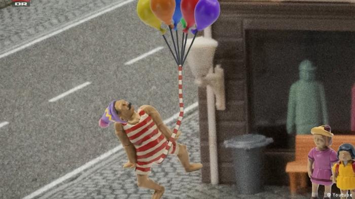 Screenshot da animação dinamarquesa John Dillermand