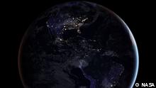 NASA-Bild |Satellitenbild der Erde bei Nacht