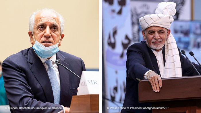 Bildkombo Afghanistan |Zalmay Khalilzad & Ashraf Ghani