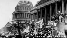 USA Das Capitol in Washington während der Großen Depression