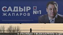Kirgisistan Wahlplakat Sadyr Dschaparow