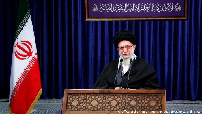 Aiatolá Ali Khamenei em pronunciamento