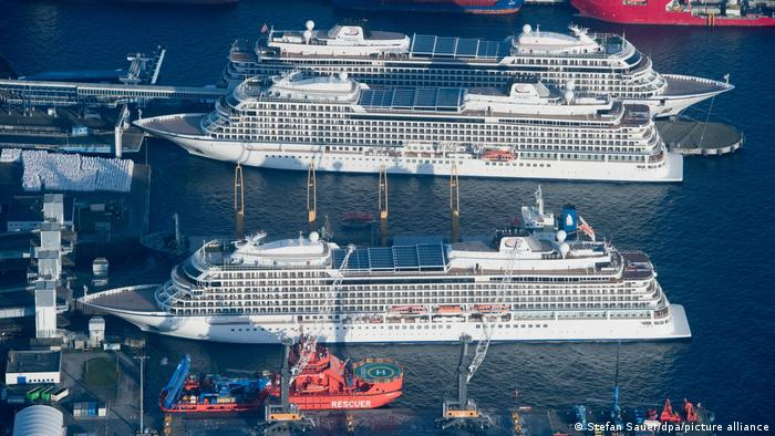 Cruise ships in a port