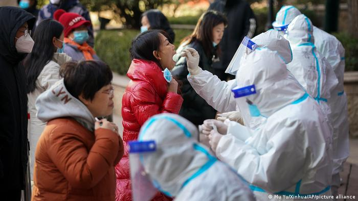China I Corona-Tests in Shijiazhuang