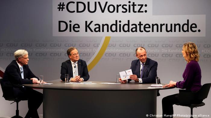 Deutschland | Norbert Roettgen, Armin Laschet und Friedrich Merz