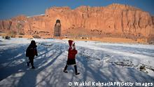 BdTD Afghanistan Bamiyan |Winter |Kinder, Buddha-Statuen