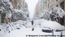 Spanien Madrid Schnee