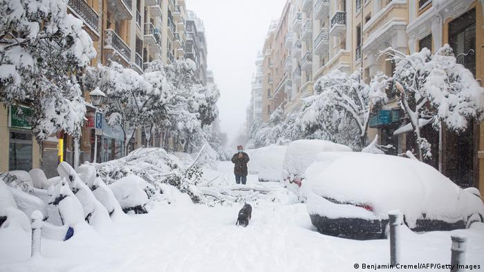 España Madrid Nieve