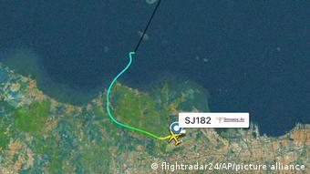 Flightradar 24 | Fluglinie des Sriwijaya Air Flight 182 vor Verschwinden