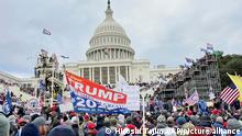 Pro-Trump protesters gather at the U.S.Capitol Hill to protest against Biden's certification in Washington, D.C. on Jan. 6, 2021. A violent pro- Trump protesters stormed into the U.S. Capitol, which has left four people killed during the turmoil at the U.S. Capitol. ( The Yomiuri Shimbun via AP Images )