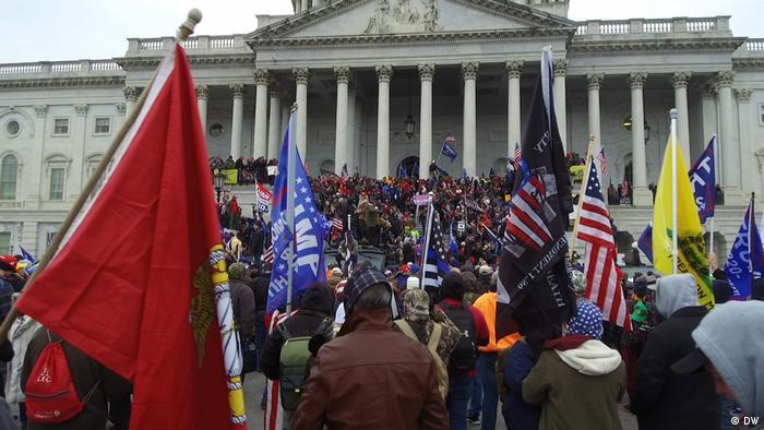 Imágenes previas al asalto al Capitolio el pasado 8 de enero.