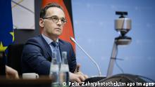 Deutschland Heiko Maas | Video-Konferenz an der initiative Allianz des Multilateralismus