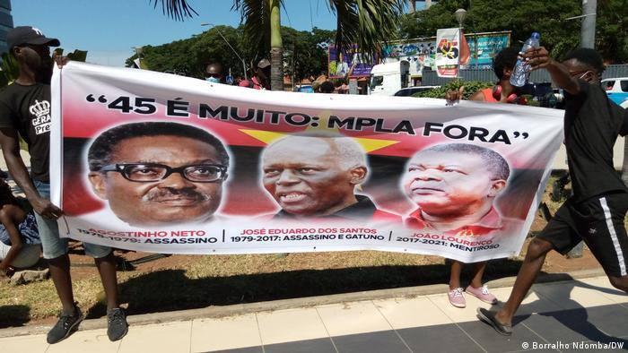 Protesto contra o MPLA em Luanda (Arquivo: janeiro de 2021)
