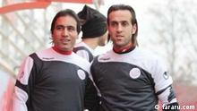 ***ACHTUNG: Bild nur für die Farsi-Redaktion freiegeben!*** via Farid Ashrafian Ali Karimi und Mehdi Mahdavikia kandidieren für den Vorsitz bzw. den stellvertretenden Vorsitz des Präsidiums des iranischen Fußballverbandes. Rechte: fararu.com