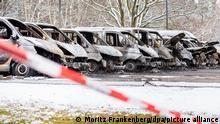 Deutschland Feuer auf dem Gelände der Landesaufnahmebehörde Braunschweig
