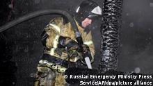 Russland Brand inrussischem Altenheim