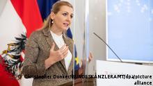 Rücktritt von österreichischer Arbeitsministerin Christine Aschbacher