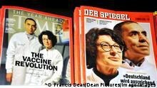 Time Magazine & SPIEGEL |Titelseite |Biontech-Gründer Özlem Türeci & Ugur Sahin