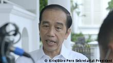 Indonesien Präsident Joko Widodo gibt Erklärung Sriwijaya Air