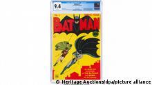 Batman-Comic von 1940 stellt bei US-Auktion Rekord auf