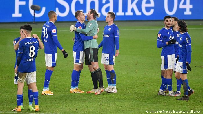 Schalke celebrate a win