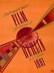 Das erste Berlinale-Plakat von 1951 in sattem Orange