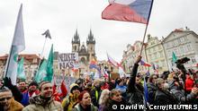 Tschechien Protest gegen Corona-Maßnahmen in Prag