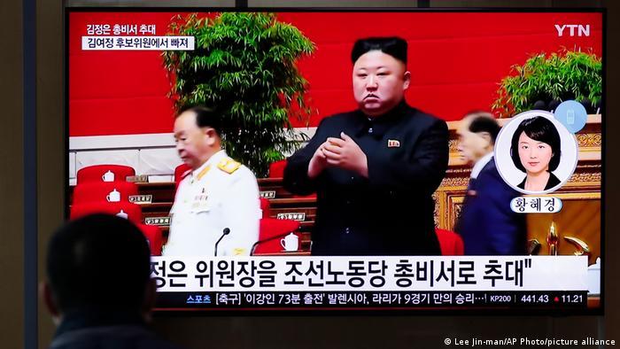 Kim Jong-un durante o congresso do partido único da Coreia do Norte